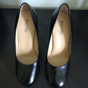 Michael Kors Black Leather High Heel Pumps